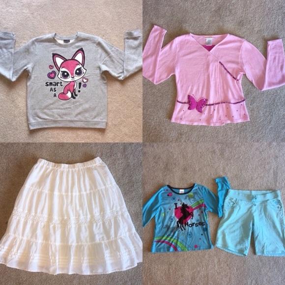 9427de9130edd Lot of Girls 14/16 Clothes Sweater Shirt Skirt XL